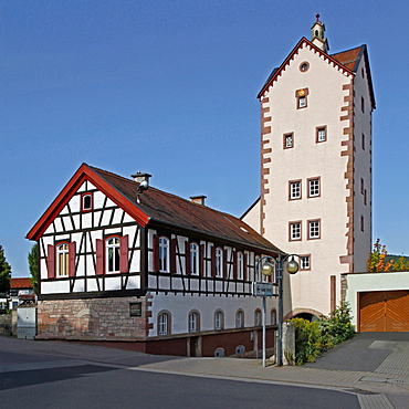 Upper Gate, half-timbered house, Bad Orb, Main-Kinzig district, Hesse, Germany