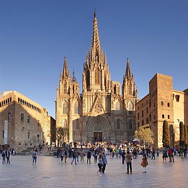 La Catedral de la Santa Creu i Santa Eulalia (Barcelona Cathedral), Barri Gotic, Barcelona, Catalonia, Spain, Europe