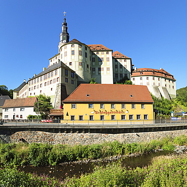 Weesenstein Castle, Mueglitztal Valley, Saxony, Germany, Europe