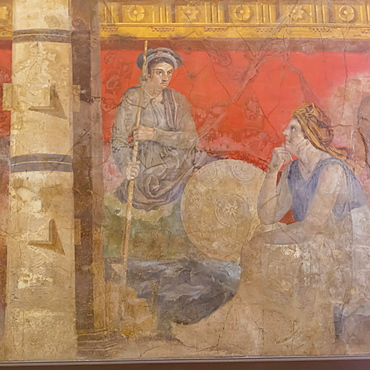 Fresco, from Boscoreale Villa, Pompeii, displayed at National Archaeological Museum, Naples, Campania, Italy, Europe