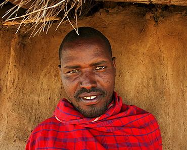 Masai man, tanzania. Arusha, moita village