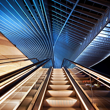 Liege-Guillemins railway station, Liege, Belgium, Europe
