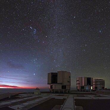 Night Sky Above the Very large Telescope