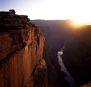 West Rim at sunrise, Grand Canyon, UNESCO World Heritage Site, Arizona, United States of America (U.S.A.), North America
