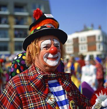 Clown convention, Bognor Regis, West Sussex, England, United Kingdom, Europe