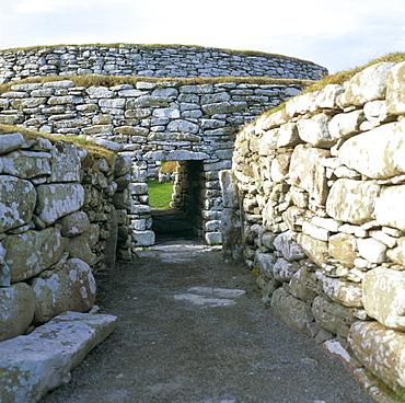 Clickimin Broch, Lerwick, Shetland Islands, Scotland, United Kingdom, Europe