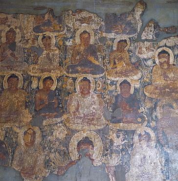 Miracle of Sravasti, Cave 1, Ajanta, UNESCO World Heritage Site, Maharashtra state, India, Asia