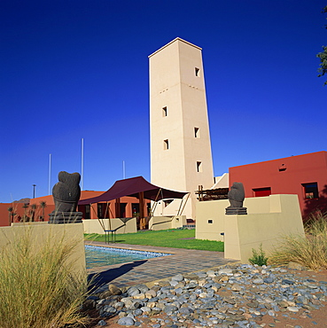 Sossusvlei Lodge, gateway to the dunes, Namib-Naukluft Park, Namibia, Africa