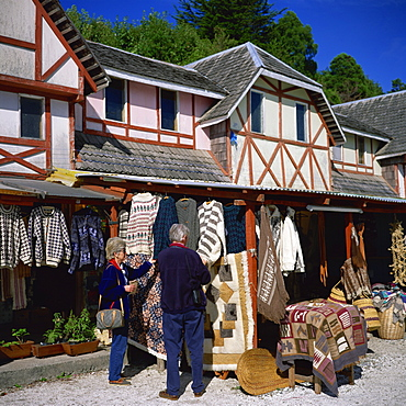 Local craft shop, Puerto Varas, near Puerto Montt, Chile, South America