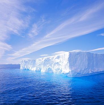 Tabular iceberg, Antarctic Ocean, Antarctica