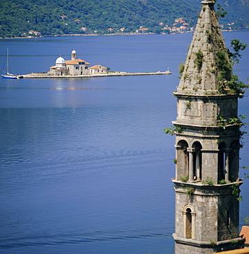 Kotor Bay seen from Perast, Montenegro, Europe