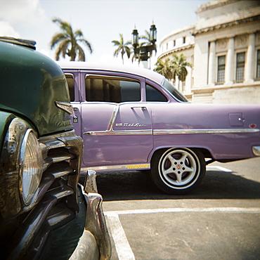 Old American car, Havana, Cuba, West Indies, Central America