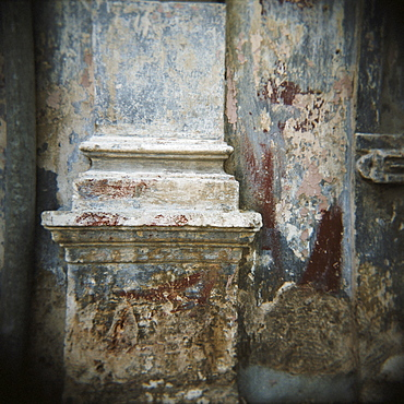 Wall detail with old paint, Havana, Cuba, West Indies, Central America
