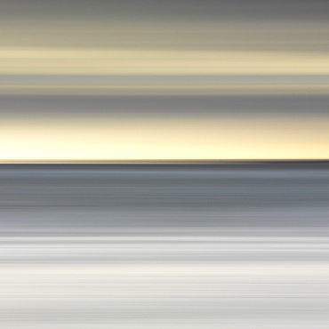 Abstract image of the view from Alnmouth Beach to the North Sea, Alnmouth, Northumberland, England, United Kingdom, Europe