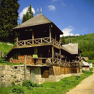 The Orthodox Pestera Monastery, Bucegi Mountains, Carpathians, Transylvania, Romania, Europe