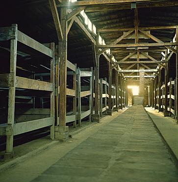 Prisoners barracks, Birkenau Concentration Camp, Auschwitz-Birkenau, UNESCO World Heritage Site, Oswiecim, Poland, Europe