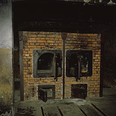 Crematorium ovens, Auschwitz Concentration Camp, UNESCO World Heritage Site, Oswiecim, Poland, Europe