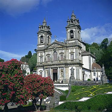 The 18th century Bom Jesus do Monte church in the city of Braga in the Minho region, Portugal, Europe