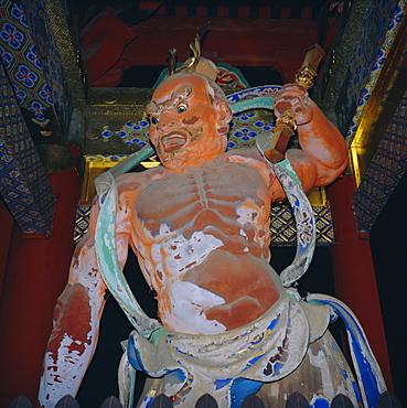 Toshogu Shrine, a guard of the Omote gate, Nikko, Honshu, Japan