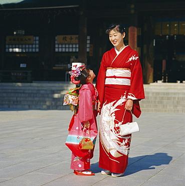 Traditional dress, Shichi-Go-San Festival, Tokyo, Japan