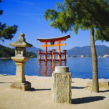 Floating Torii, Miyajima Island near Hiroshima, Japan
