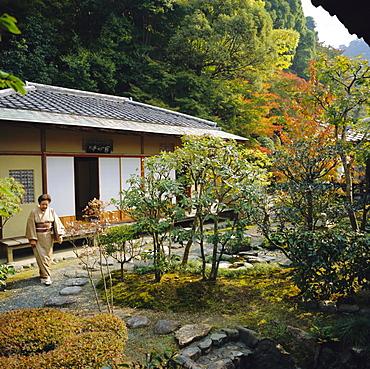 Tea ceremony house, Nanzen-ji Temple, Rinzai Zen garden, Kyoto, Japan