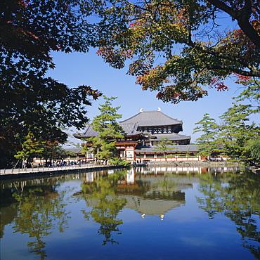 Todaiji Temple, Daibutsuden Hall of the Great Buddha, Nara, Kansai, japan