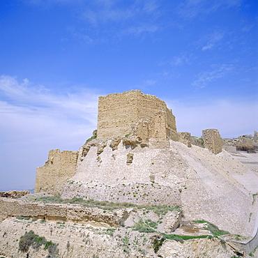 12th century Crusader castle in biblical land of Moab, Kerak, Jordan, Middle East