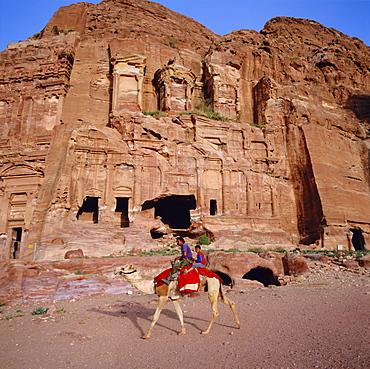 1st century AD Nabatean Corinthian Tomb, Wadi Musa, Petra, Jordan, Middle East