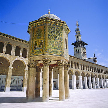 Omayyad Mosque, Treasury covered in mosaic, Damascus, Syria, Middle East
