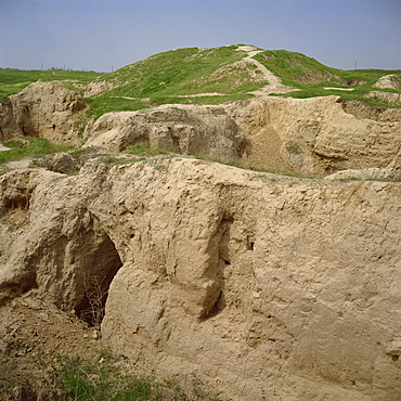 Alexander the Great's fort dating from 335 BC, Afrasiab archaeological area, Samarkand, Uzbekistan, Central Asia, Asia