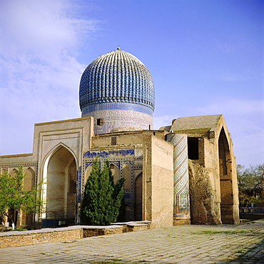 Gur Emir Mausoleum, burial place of Tamerlane, Samarkand, Uzbekistan, Eurasia