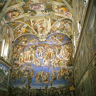 Interior, Sistine Chapel, the Vatican, Rome, Lazio, Italy, Europe