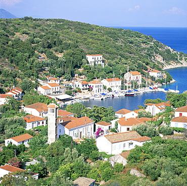 Kioni bay, Ithaca, Ionian Islands, Greek Islands, Greece, Europe
