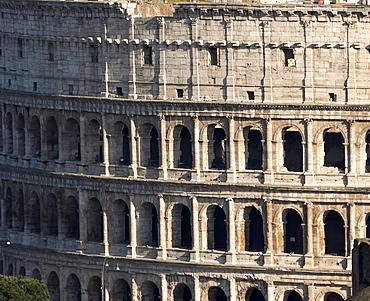 Detail of the Colloseum, UNESCO World Heritage Site, Rome, Lazio, Italy, Europe