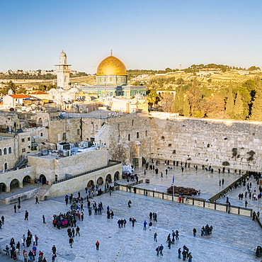 Jewish Quarter of the Western Wall Plaza, Old City, UNESCO World Heritage Site, Jerusalem, Israel, Middle East