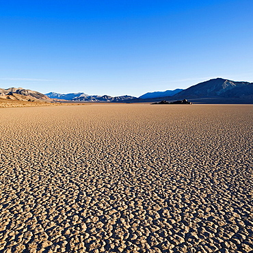 Dry lake bed of the Racetrack playa, Death Valley national park, California