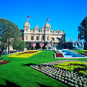 Casino and gardens, Monte Carlo, Principality of Monaco