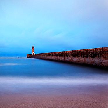 Lighthouse at dusk, Lighthouse at dusk