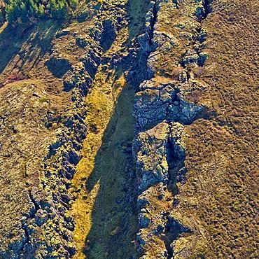 Mid-Atlantic Ridge Fault Line, Thingvellir National Park Iceland