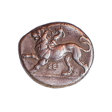 Peloponnesos, Sikyo, 430-390 BCE Silver stater Ancient Greek coin private collection