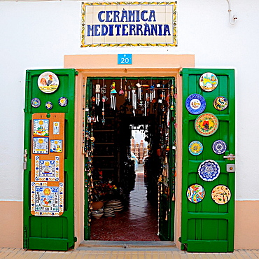 Mediterranian pottery shop  Formentera, Balearic Islands, Spain