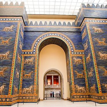 Ishtar Gate of Babylon, Pergamon Museum, Museum Island, Berlin, Germany, Europe.