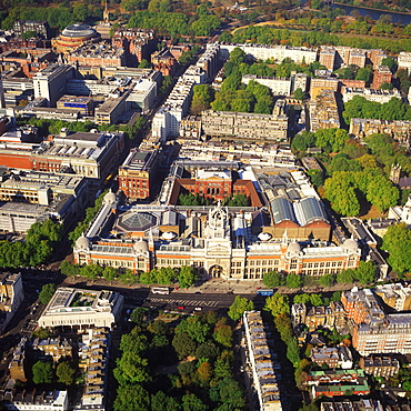 Aerial image of the Victoria and Albert Museum, Albertopolis, South Kensington, London, England, United Kingdom, Europe