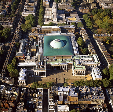 Aerial image of the Science Museum, Albertopolis, Exhibition Road, South Kensington, London, England, United Kingdom, Europe