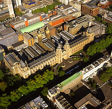 Aerial image of the Natural History Museum, Albertopolis, South Kensington, London, England, United Kingdom, Europe