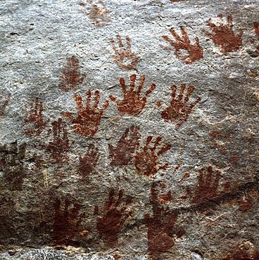 Karowrieng rock paintings, Chi-Chi Gorge, Upper Mazaruni District, Guyana, South America