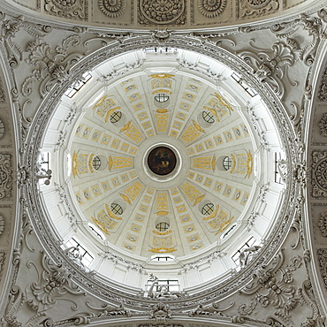 Cupola of the St. Kajetan Church (Theatinerkirche) (Theatiner Church), Odeonsplatz, Munich, Bavaria, Germany, Europe