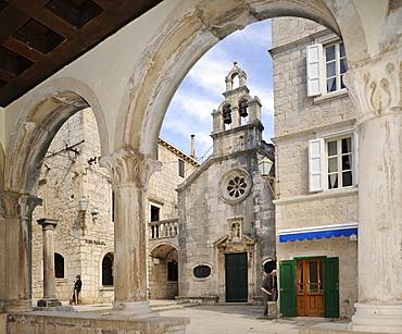 Loggia, Korcula, Croatia, Europe