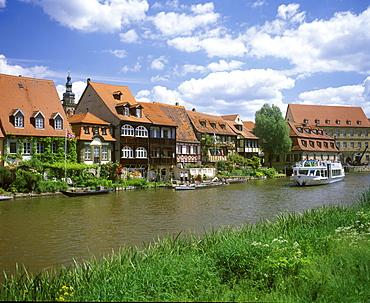 Little Venice on the Regnitz River, Bamberg, Bavaria, Germany, Europe